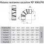 Kolano nastawne kwasoodporne 150/90 0,6 mm