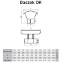 Daszek kominowy owal 120x170 1,0 mm