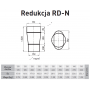 Redukcja żaroodporna owalna 120x215/180 0,8 mm