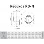 Redukcja żaroodporna owalna +120x200/+200 0,8 mm