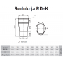 Redukcja żaroodporna owalna +120x185/-180 1,0 mm