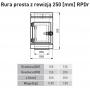Rura prosta 130/200/0,25 z rewizją SGSP