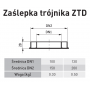 Zaślepka trójnika 100/150 SGSP