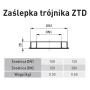Zaślepka trójnika 130/200 SGSP