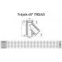 Trójnik dwuścienny kwasoodporny 130/225