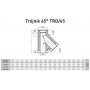 Trójnik dwuścienny kwasoodporny 300/400