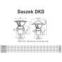 Daszek kominowy żaroodporny 130/225 0,8 mm