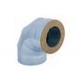 Kolano stałe dwuścienne żaroodporne 300/400 0,8 mm