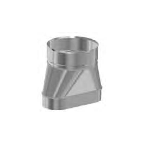Redukcja żaroodporna owalna 120x200/+180 0,8 mm