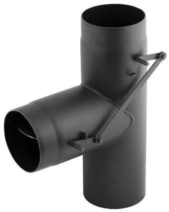 Trójnik dwuprzepływowy spalinowy czarny 2 mm DARCO