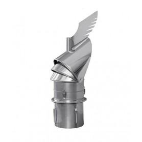 Rotowent DRAGON 180 podstawa wciskana otwierana DARCO do kominów ceramicznych