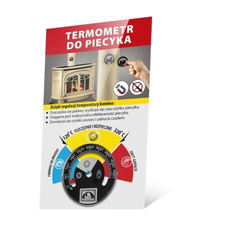 Miernik spalania/termometr kominkowy HANSA