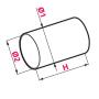Kanał okrągły fi125 0,5mb - KO125-05