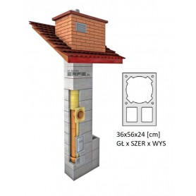 System kominowy izolowany z podwójną wentylacją ERFE UNI